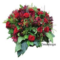 траурная корзина из живых цветов №3