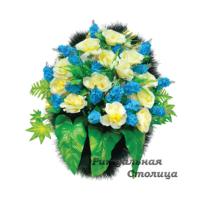 корзина из искусственных цветов 07