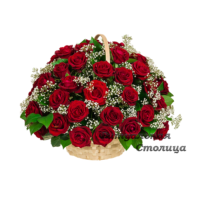 траурная корзина из живых цветов №7