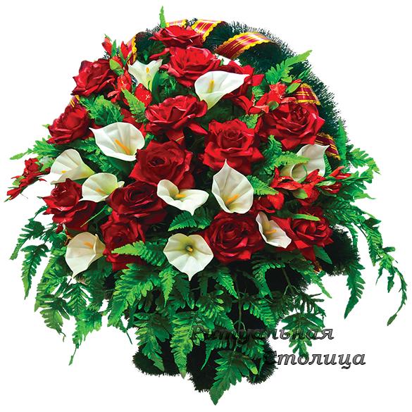 корзина из искусственных цветов 09