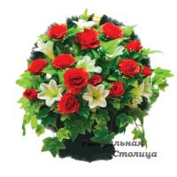 корзина из искусственных цветов 10