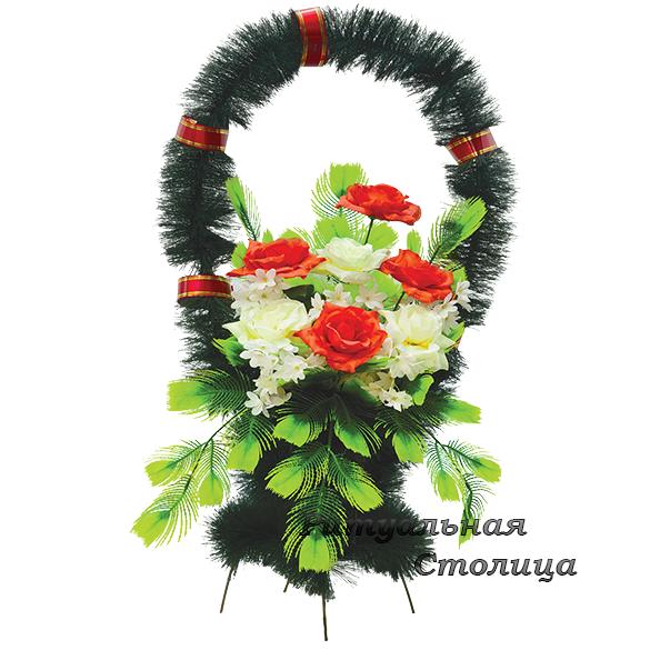 корзина из искусственных цветов 11
