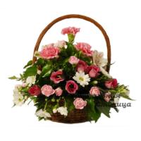 ритуальная корзина из живых цветов №11