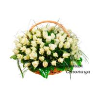 ритуальная корзина из живых цветов №12