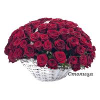 ритуальная корзина из живых цветов №14