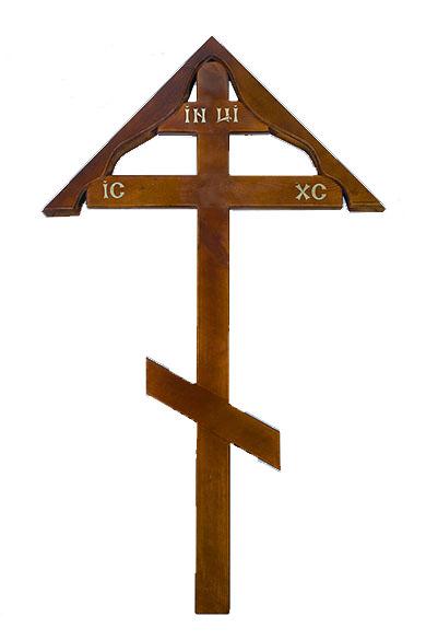 krest iz dereva dub prostoy i domik